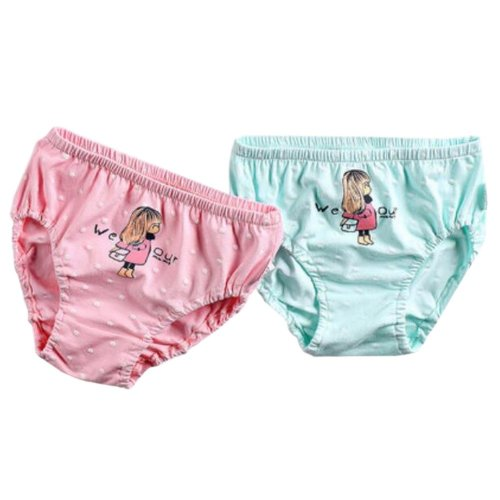 [Cute Girl] Girls Comfortable Cotton Panties/Underwear, 2PCS