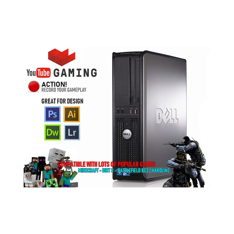 FAST GAMING PC Dual Core Computer GT 710 2GB Windows 10