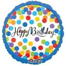 Confetti Bash Happy Birthday Standard Foil Balloons S40 -