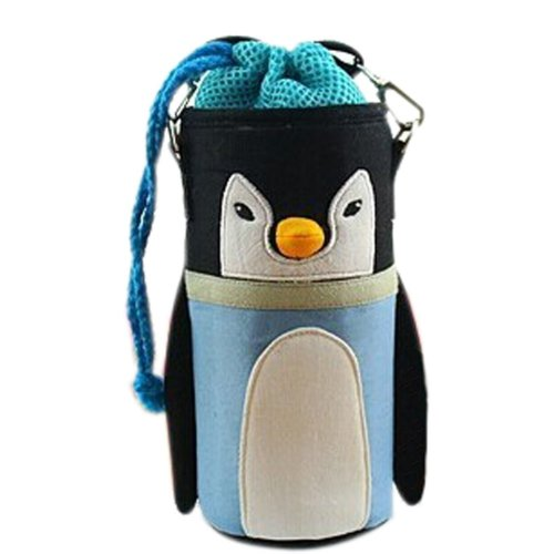 Lovely Baby Bottle Messenger Bag/Keep Warm (22*9*9CM),Blue Penguin