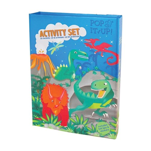 Dinosaur Activity, Craft and Colouring Set for Boys (and Girls!). Dinosaur Colouring Book Activity Set for Boys. Great Travel Activity Packs for...