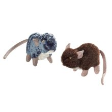 Hunter Cat Toy Set Plush Rats 3cm (Pack of 6)
