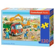 Csb13180 - Castorland Jigsaw Classic 120 Pc - Construction Works