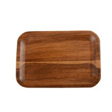 Wood Serveware Plate Small Dessert Plates Cup Mat Serving Tray,rectangle