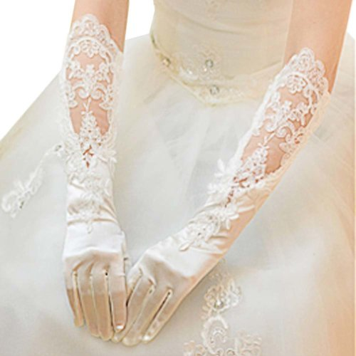 Bridal Wedding Gloves Party Dress Lace Long Gloves A05