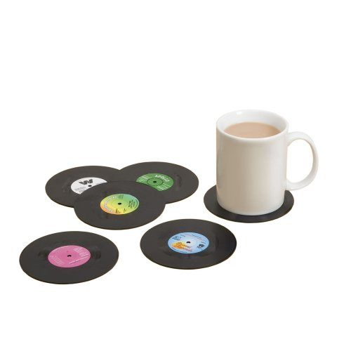 Gift  Republic Spinning Hat Retro Vinyl Coasters