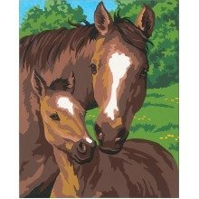 Dpw91119 - Paintsworks Learn to Paint - Pony and Mother
