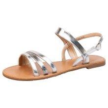 Lulu Womens Flat Strappy Open Toe Sandals