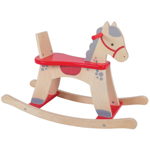 Bigjigs Toys Wooden Rocking Horse with Safe Guard