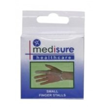 Small Medisure Finger Stalls -  medisure pair flexible pvc finger stalls choose your size