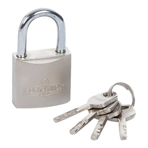 Fort Knox 30mm Satin Finish Padlock - Weather Proof Lifetime Guarantee -  padlock 30mm weather proof lifetime guarantee