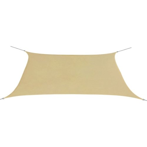 vidaXL Sunshade Sail Oxford Fabric Rectangular 2x4 m Beige
