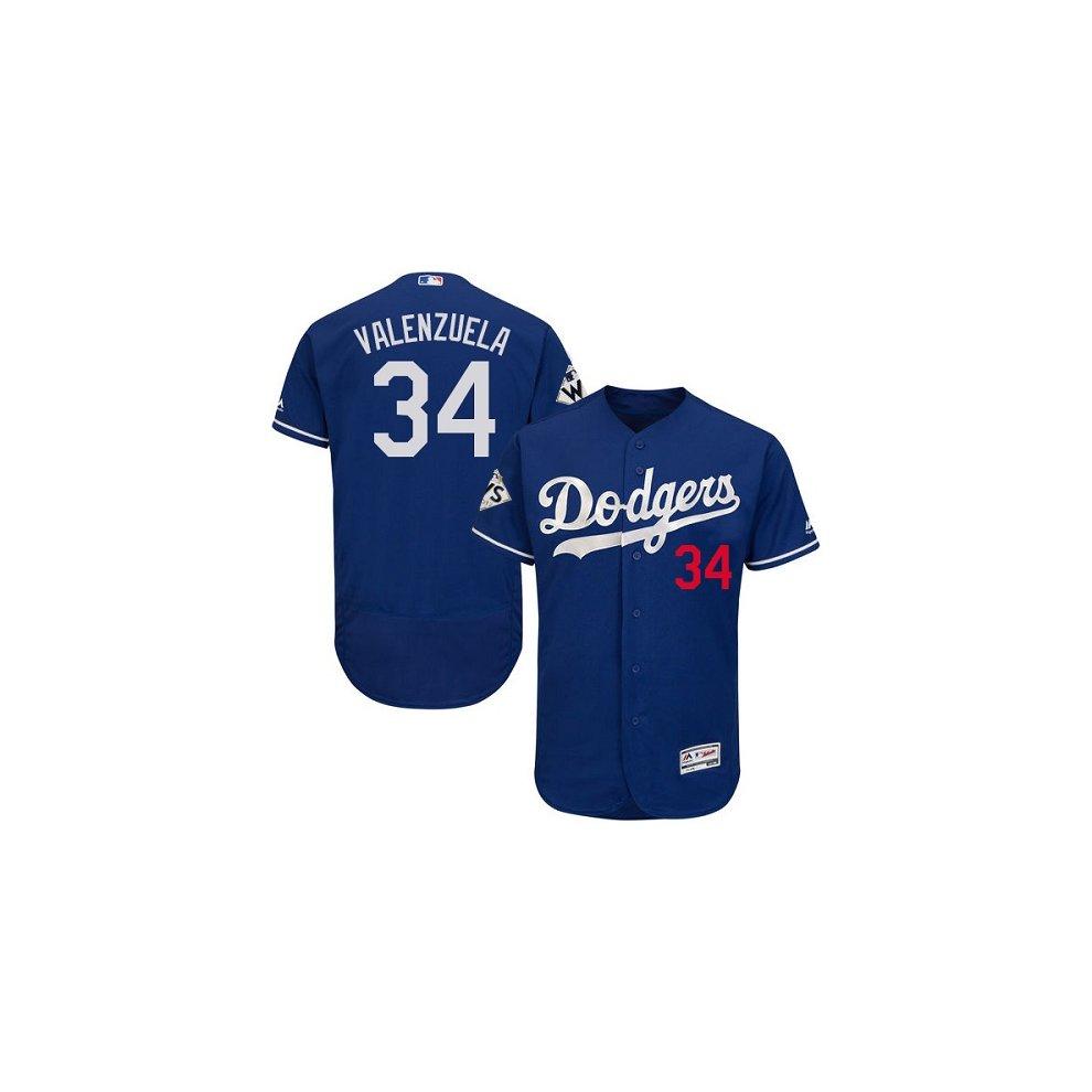 huge selection of e0f24 c697c Los Angeles Dodgers Flex Base MLB Custom Blue World Series ...