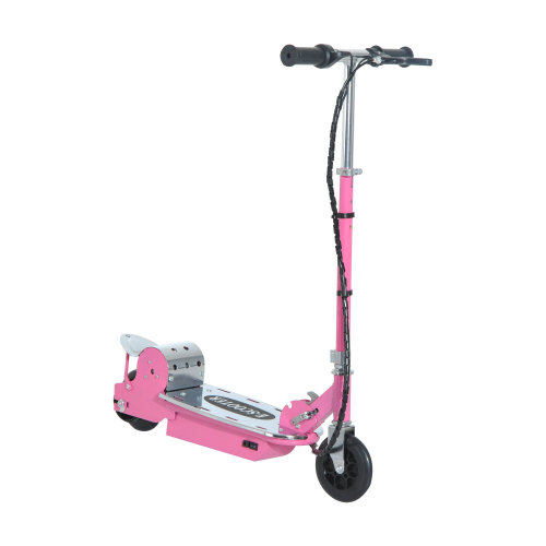 Homcom Kids E Scooter Adjustable Ride On Foldable Electric Bike w/ 12V Rechargeable Battery (Pink)