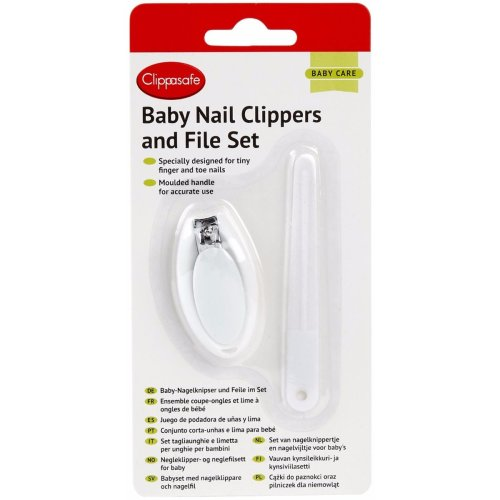 Clippasafe Baby Nail Clippers & File Set