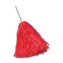 Large Red Cheerleader's Pom Pom - Fancy Dress Cheerleader Accessory Cheerleader -  pom large fancy dress cheerleader red accessory POM CHEERLEADER