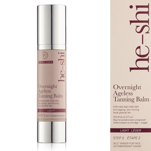 He-Shi Overnight Ageless Tanning Balm Luxurious Anti-Ageing Gradual Tanner, 50ml