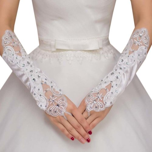 Bridal Wedding Gloves Party Dress Lace Long Gloves A15