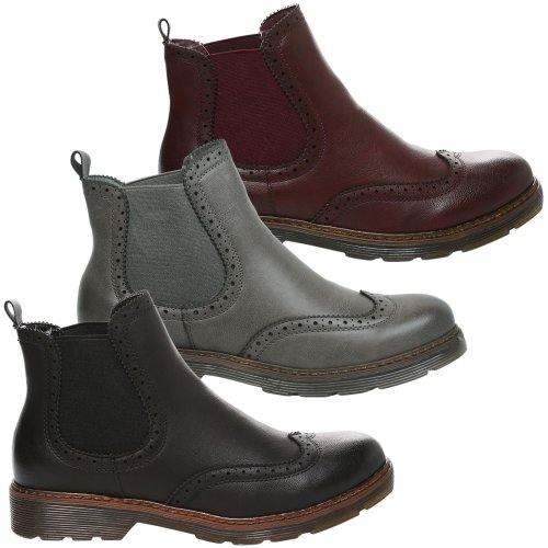 Nella Womens Low Heel Chelsea Style Ankle Boots