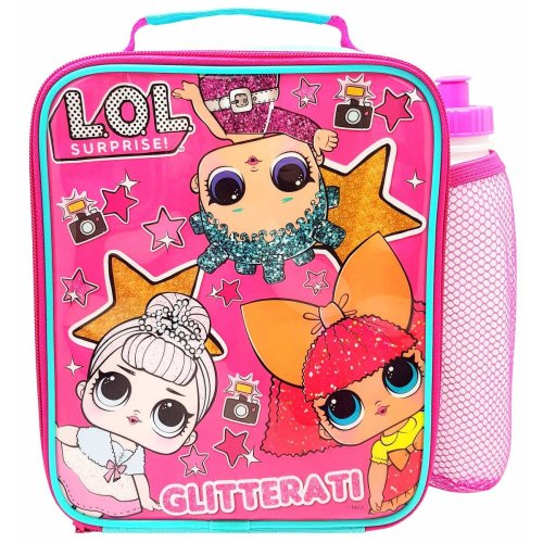 LOL Surprise! Glitterati Lunch Bag/Box and 450ml Bottle Set | Lunchbox