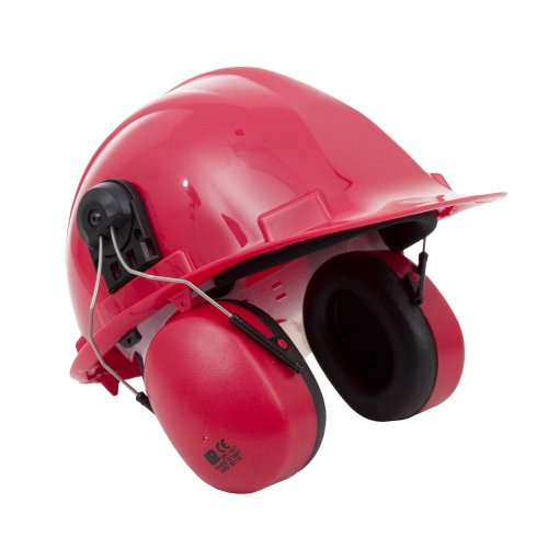 Proforce EP03 Red Helmet Mounted Classic Ear Muffs Ear Defenders Ear Protectors