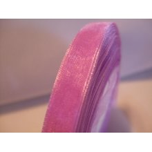 Organza Ribbon Roll - 10mm x 50 Yards (45 Metres) - Lilac