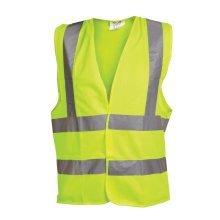 OX Hi-Vis Vest Yellow Waistcoat Vest (Various Sizes)