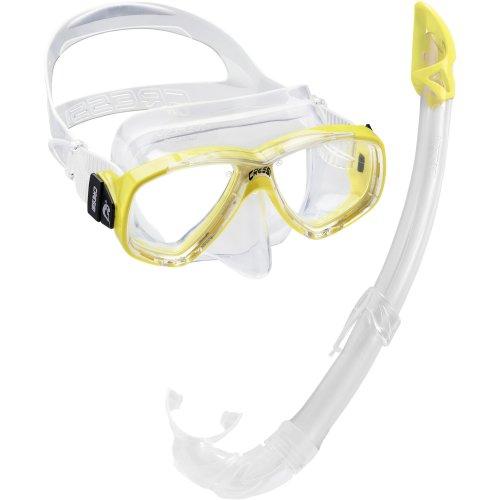 Cressi Perla Mare Combo Snorkelling Set - Yellow