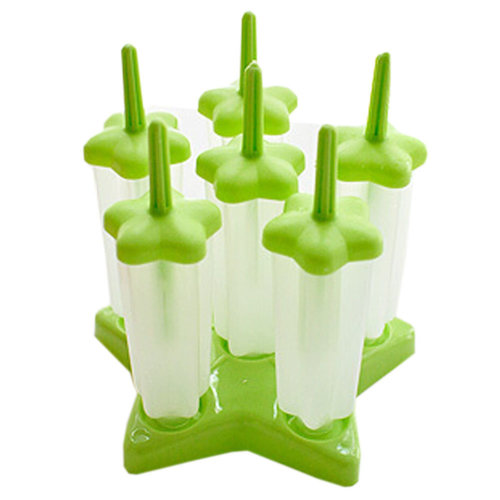 "Creative Pentagram Ice-Cream Molds No Spill Square DIY Tray 6.2"" GREEN"