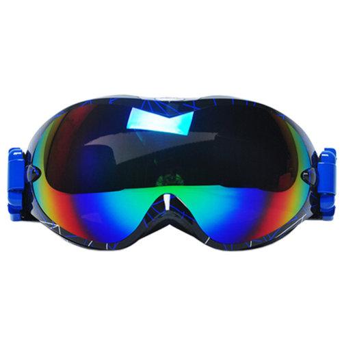 Professional Spherical Lenses Snowboard Ski Goggles Anti-fog Eyewear Blue