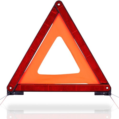 CARTO warning triangle for motor vehicles with plastic casing - protection of accident and danger points / for cars / motor vehicles / cars - with...