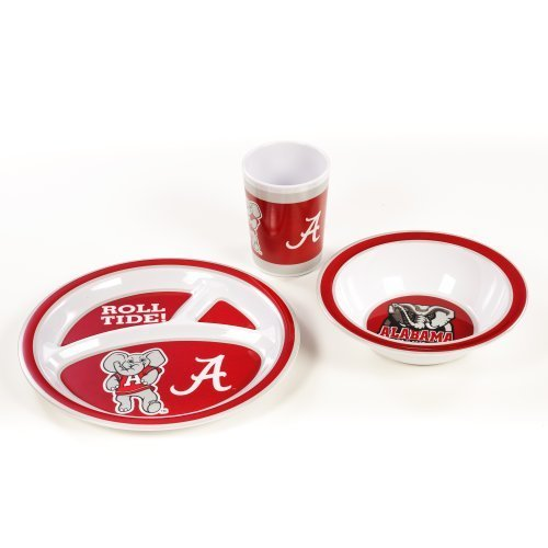 NCAA Alabama Crimson Tide Kids Dish Set (3-Piece)