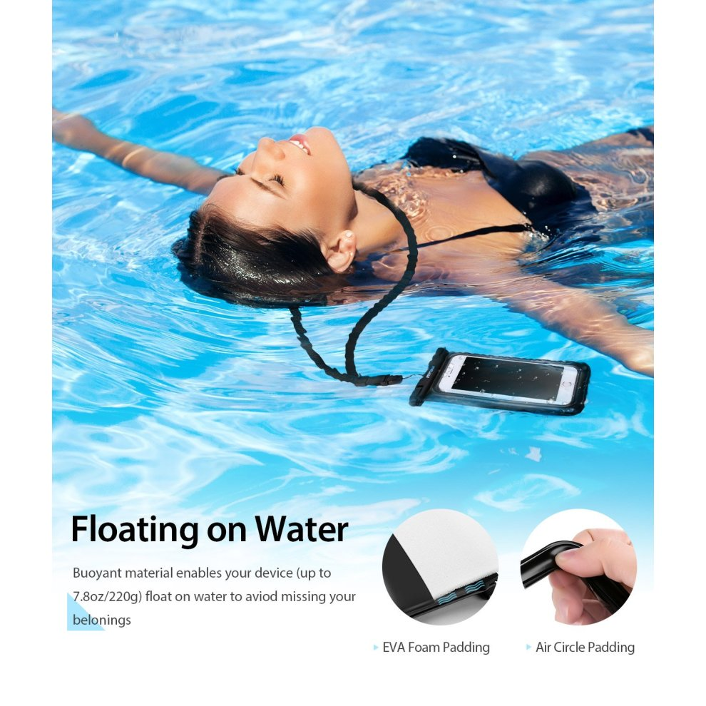 huge selection of 0435f 81af0 Mpow Waterproof Case, Floating Dry Bag Cellphone Pouch iPhone X/8/7/7 Plus,  Google Pixel, LG G6, Huawei P9/P9 Plus, Galaxy S8 More, 2 Packs