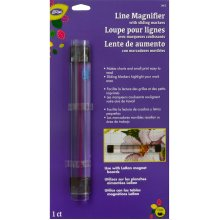 "LoRan Line Magnifier W/Sliding Markers .875""X6.5""-"