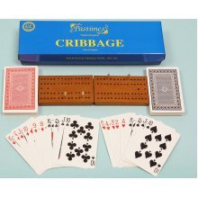 Cribbage set with board, cards & pegs 00192