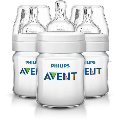 Philips Avent  Classic+ Feeding Anti-colic Bottle 125ml/4oz (3 Pack) Scf560/37