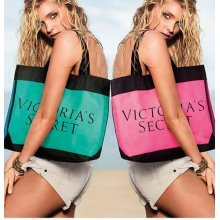 Victoria's Secret Color Block Tote Summer 2015 Teal/Blue Bag