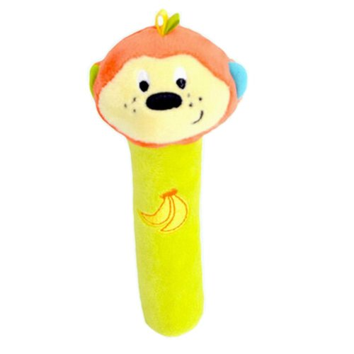 Infant Baby Kids Animal Soft Stuffed Plush Toy Rattle Lovely Monkey
