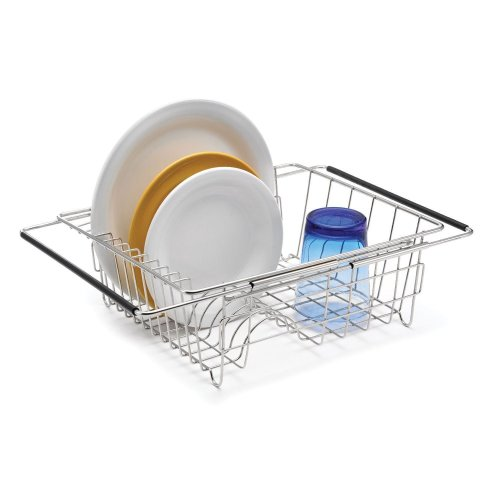Polder Kitchen Dish Rack In-Sink/Over-Sink Expandable Design - Stainless Steel