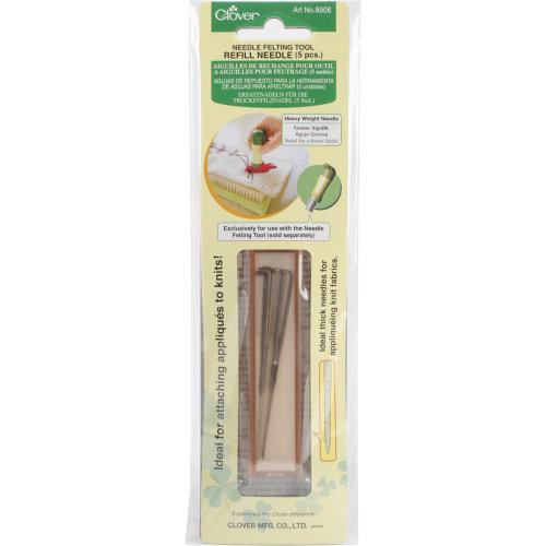 Clover Felting Needle Tool Refill Heavy Weight 5/Pkg-