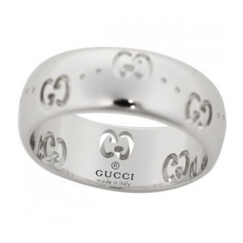GUCCI RING ICON BOLD 18KT WHITE GOLD MEASUREMENT 15 246470 J8500 9000