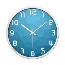 [Blue] 12 Inch Stylish Wall Clock Decorative Silent Non-Ticking Wall Clock