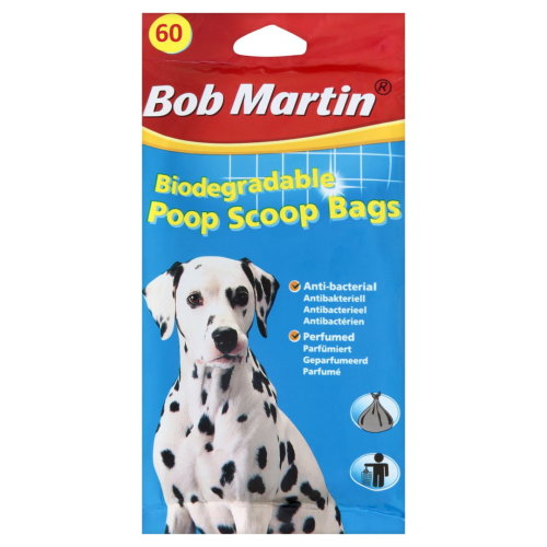 Bob Martin Biodegradable Poop Scoop Bags 60pk (Pack of 15)