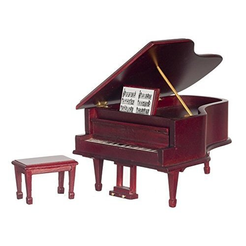 1 12 Scale Mahogany Piano with Bench D4120