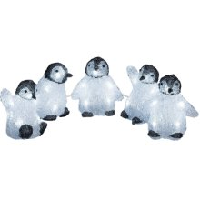 Outdoor LED Penguin Decoration 5pc | Acrylic Indoor Christmas Décor