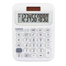 10-Digit Dual Power Source Standard Functional Desktop Calculator [White]