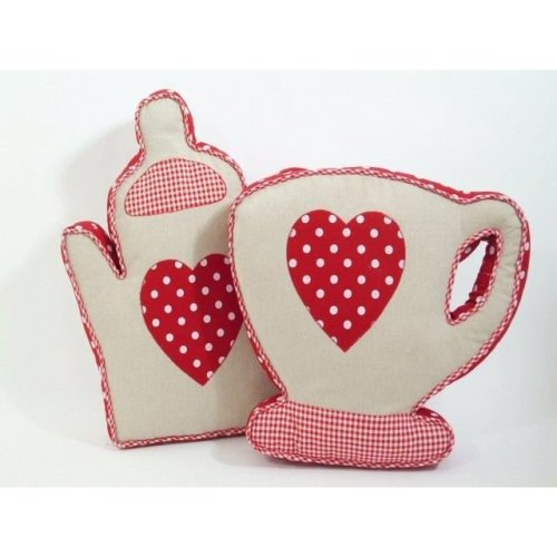 Cup / Teapot Shape Decorative Cushion For Sofa Living Room