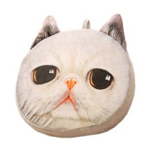 Realistic Personality Pillows Plush Toys 3 D Cartoon Cat Head Meow White Cushion