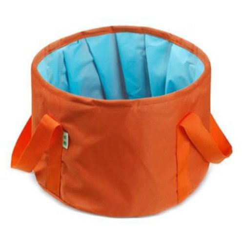15L Portable Folding Wash Basin Leak-proof Foldable Bucket Footbath Basin with Carrying Pouch #4