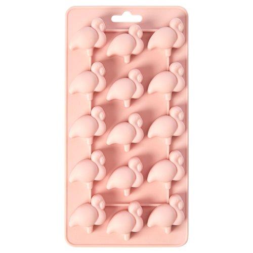Zing Flamingo Silicone Ice Cube Tray, Pink